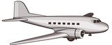 DC 3 airliner poster