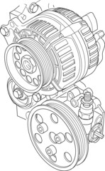 Lichtmaschine + Lenkhydraulig