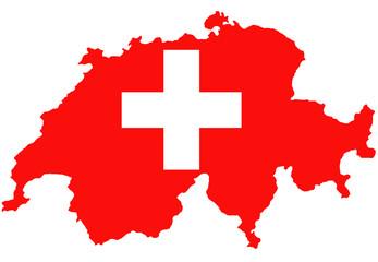 """Fond de carte """"Drapeau Suisse"""" non détouré"""