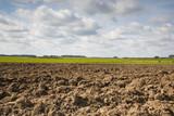 End of summer agricultural landscape of east Europe poster