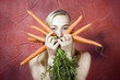 Beautiful Woman With Carrots
