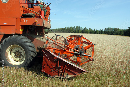 fragment of Combine Harvester at work