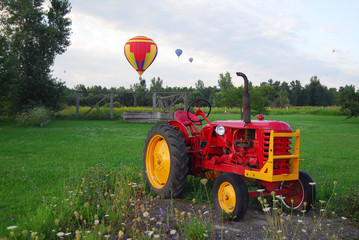 Hot Air Balloons and Tractor