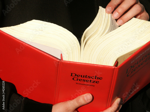 Leinwanddruck Bild Deutsche Gesetze 3