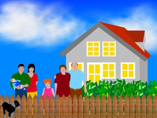 familien - eigenheim - generationen