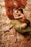 Beautiful woman sleeping poster