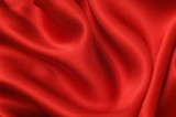 Red silk textile poster