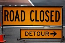 """Постер, картина, фотообои """"Road closed: Detour"""""""