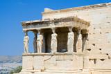 Caryatids at the Erechtheion, Acropolis, Athens poster