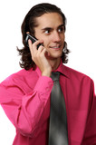 sexy business man on the phone