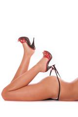 Heel in panties