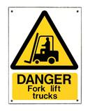 Fork Lift Truck Sign poster