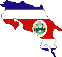 "Fond de carte ""Drapeau Costa Rica"" détouré"