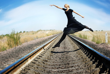 Crazy ballet dancer
