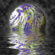 Planet reflection and mist