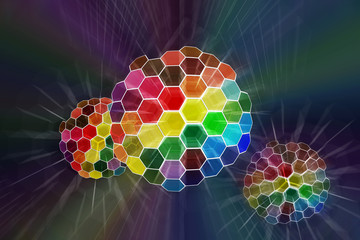 Abstract color spheres