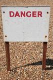 Old danger sign poster