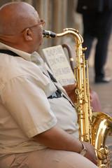Sassofonista a Roma