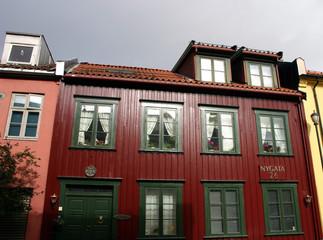 Holzhäuser in Alesund