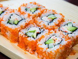 Fototapeta California sushi rolls