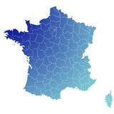 Fond de carte Départements français