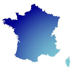 Fond de carte France plein