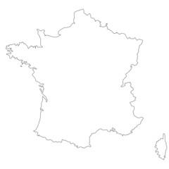 Fond de carte France contour
