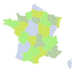 Fond de carte Régions françaises