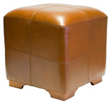 Leather Cube Ottoman  poster