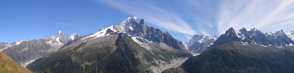 panorama vu de la Flégère