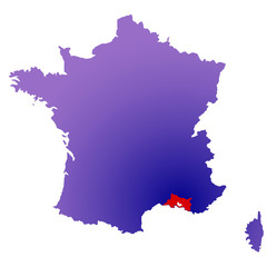 Bouches du Rhône en France
