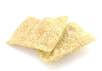 Fried wonton rectangle