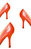 Red Leather High Heel Shoes poster