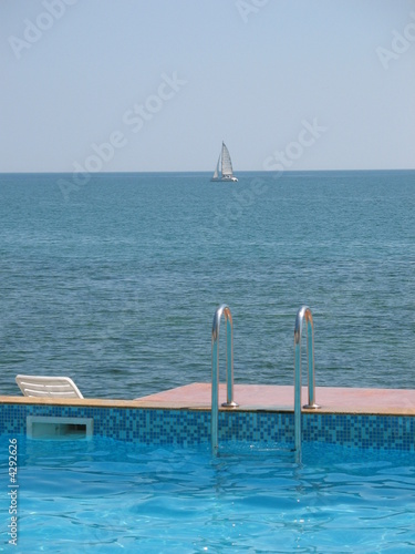Swimming pool near the sea