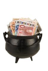 A pot of money (Euros)