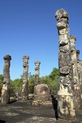 Stupa and pillars
