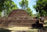 Brick dagoba in Polonnaruwa, Sri Lanka poster