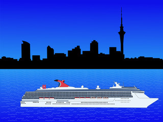 Cruise ship in Auckland
