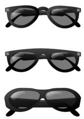Collection de lunettes noires