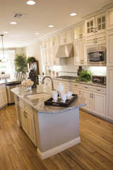 Modern light color kitchen