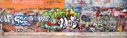 Leinwandbild Motiv wall with graffity