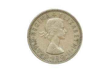 Old Coin dated 1958, One Shilling