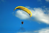 Paraglider over Water poster