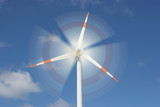 motion effect on wind mill power generator poster