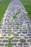 old stone pavement path poster