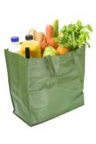 Reusable shopping bag full of groceries poster