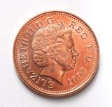 Queen Elizabeth on British 2007 penny poster