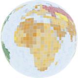 vector pixel world poster