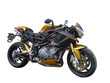 Gold Benelli Motorbike With Clipping path