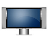 plasma screen tv with stand poster
